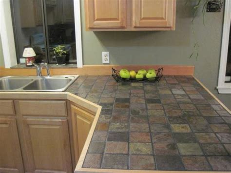 Slate Kitchen Countertops Kitchen Tile Countertops