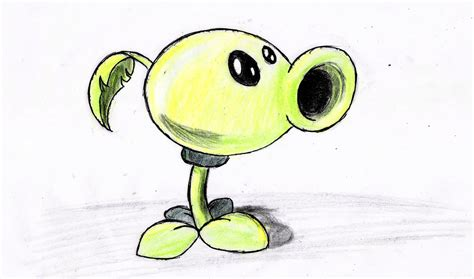 imagenes de zombies a lapiz como dibujar planta lanza guisantes paso a paso plants vs