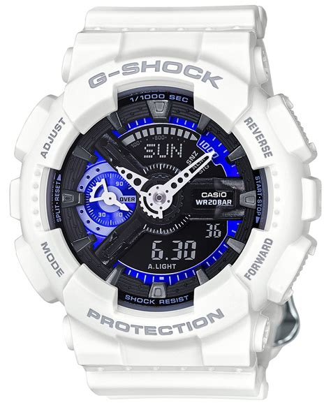 g shock s analog digital s series white bracelet