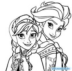 elsa colouring pages
