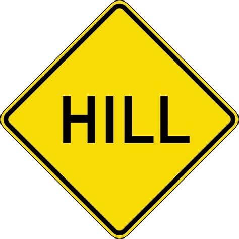 hill road traffic vector sign download at vectorportal