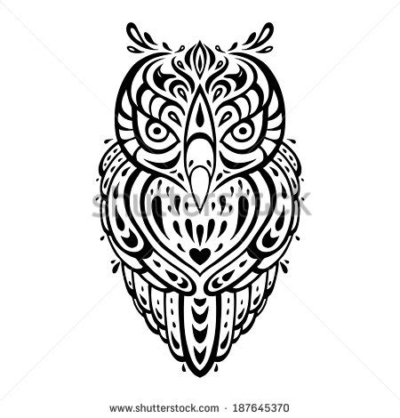 polynesian animal tattoo designs owl tattoo stock images royalty free images vectors
