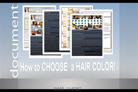 how to choose a hair color understanding hair color for hair clients