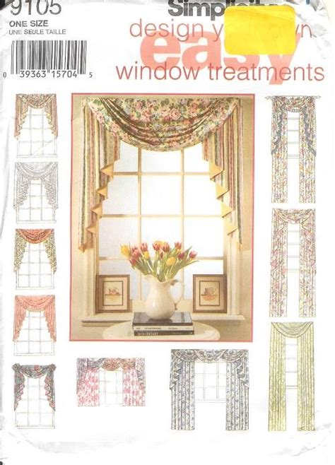 home decor sewing patterns simplicity window treatment covering curtains drapes home