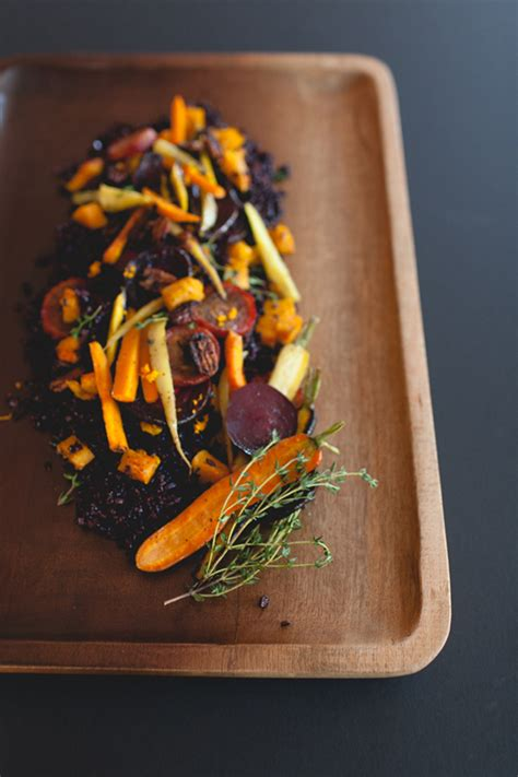 coco kelley recipe roasted seasonal veggies black rice coco