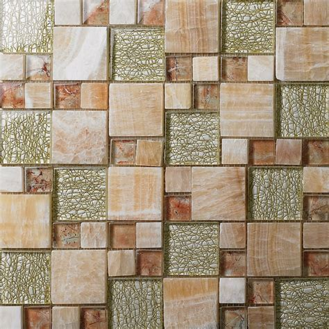 mosaic tile patterns kitchen backsplash aliexpress buy mixed glass mosaic square