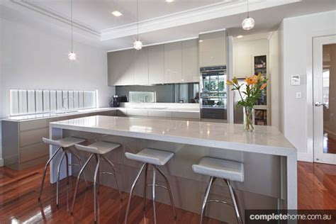 Designer Kitchens Brisbane super sleek grey kitchen design complete home
