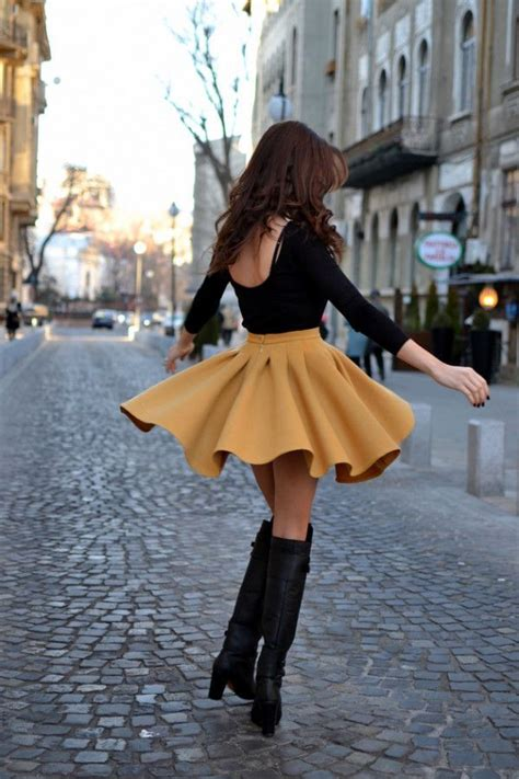 Rok Fashionable Sussan Brown Mini Skirt how to wear boots with skirts afmu net
