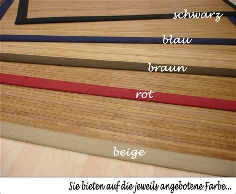 bambus teppiche bambus teppich dekowe parkett 200x300 cm rot ebay