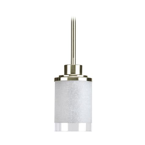 Progress Modern Mini Pendant Light With White Glass Modern Mini Pendant Lighting
