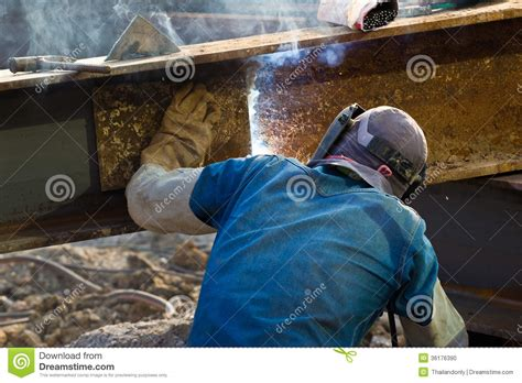 Kaos Welder Metal Workers outdoor worker with protective mask welding metal and sparks stock photo image 36176390