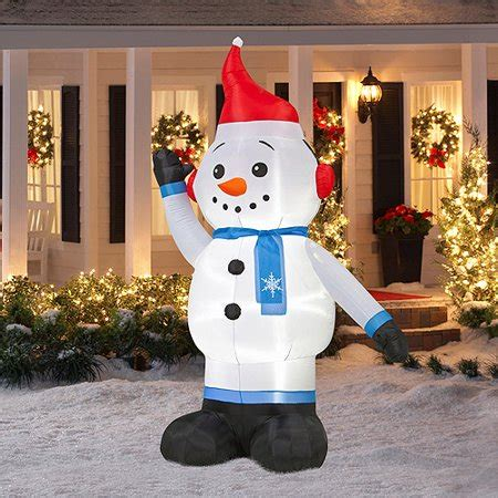 christmas yard blowups 8 airblown snowman walmart