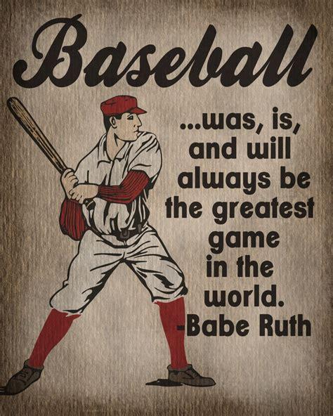 printable baseball quotes sport print vintage baseball print kids room decor