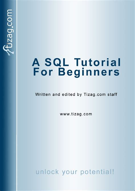 sql query language tutorial pdf sql ebook tizag com