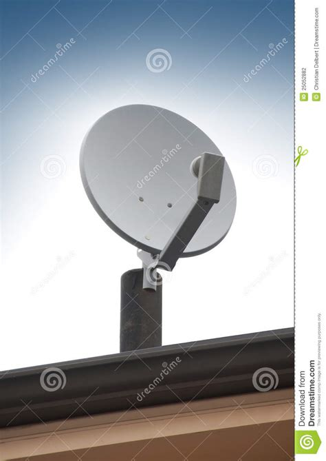 satellite tv antenna on roof stock photo image 25052882