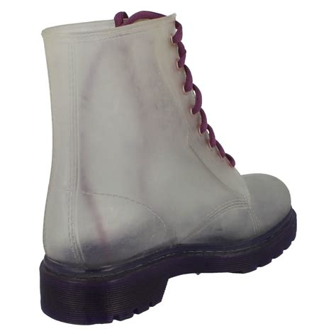 jelly boots spot on transparent jelly boots f50087 ebay