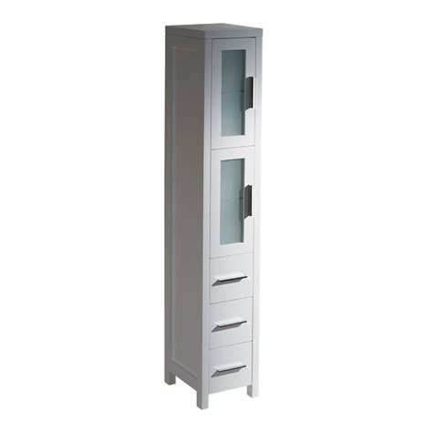 side cabinet fresca torino white tall bathroom linen side cabinet
