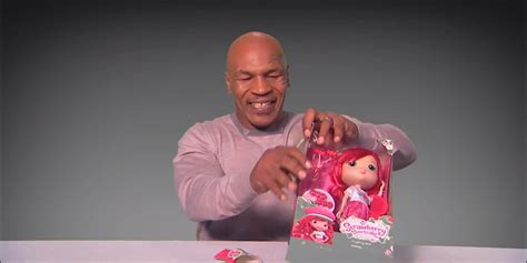 kimmel mike tyson unboxes strawberry shortcake you ve seen mike tyson box but jimmy kimmel got him to