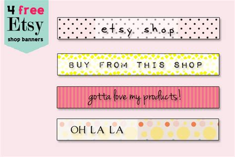 free etsy banner template set of 4 etsy banners and backgrounds by cakememoirs on deviantart
