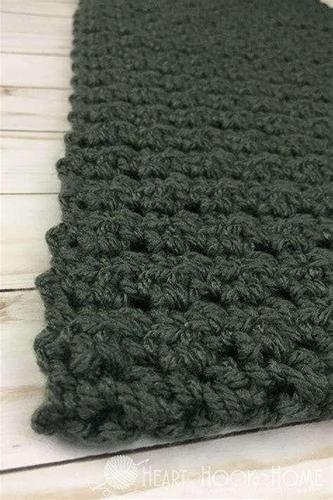 mens scarf crochet pattern crochet and knit