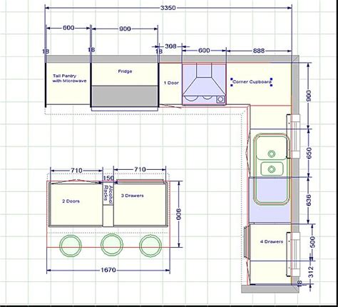 blueprint floor plan 13 best images about kitchen plans on kitchen