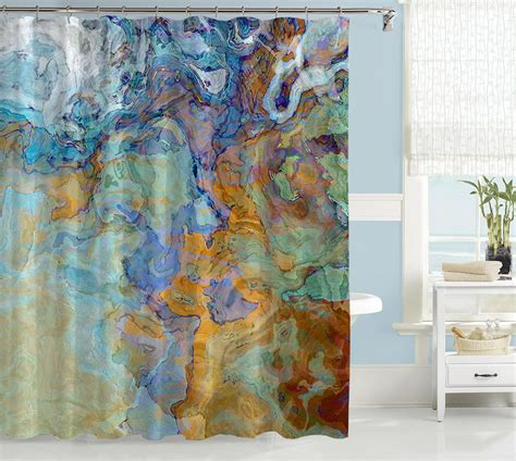 art curtains contemporary shower curtain abstract art bathroom decor