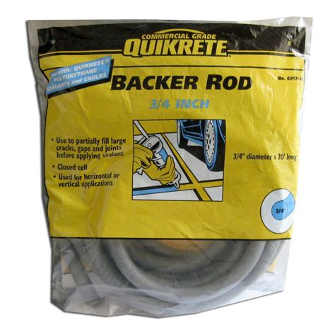 quikrete backer rod 3 4 inches x 20 the home depot