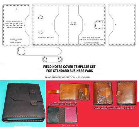 Spiral Bound Business Pad Cover Template Set For Leather Crafters New 2016 Ebay Ebay Cover Photo Template