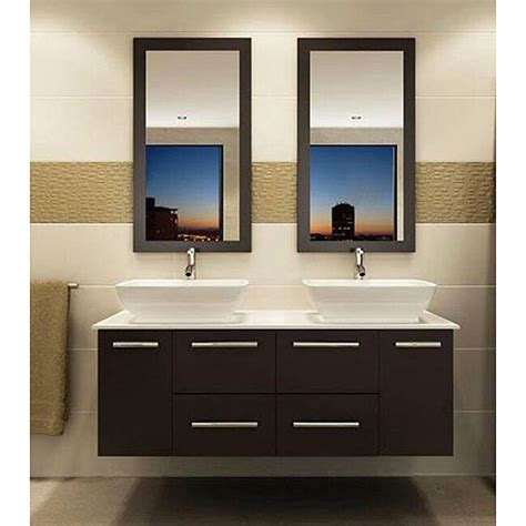 Floating Sink Cabinet by Wall Mount Floating 60 Inch Sink Bathroom Vanity