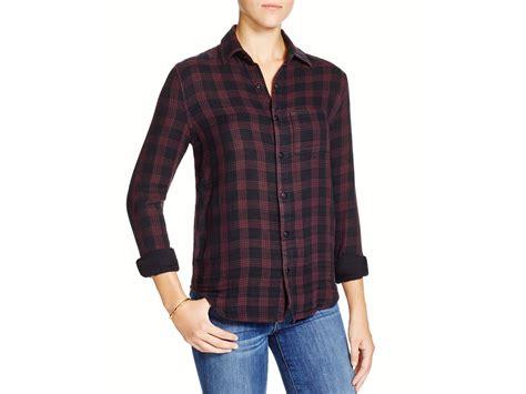 S4065 Kemeja Import Black Soft Cotton Shirt La Kode Yt4065 Joe S Plaid Cotton Flannel Shirt In Black Lyst
