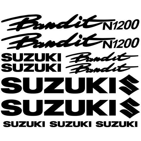 Felgenaufkleber Bandit by Wandtattoos Folies Suzuki N1200 Bandit Aufkleber Set