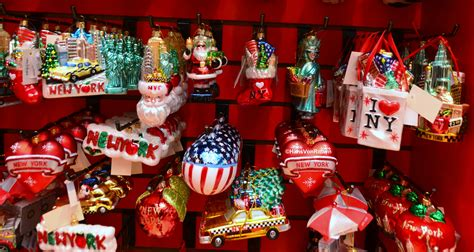 glass chrsitmas ornaments new york city in the wit of