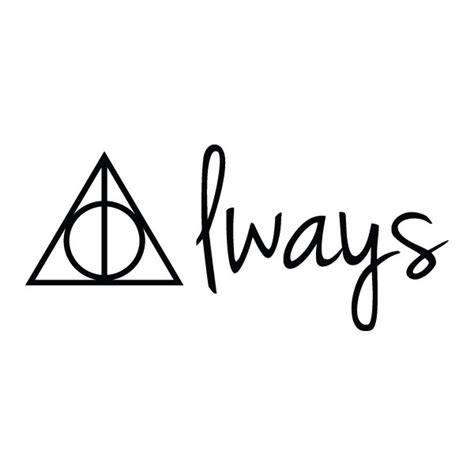 harry potter always temporary tattoo set of 2
