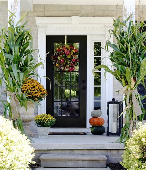 front entryway ideas the yellow cape cod fall decorating and a winner of the