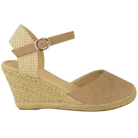 new womens espadrille summer wedge sandals mid high