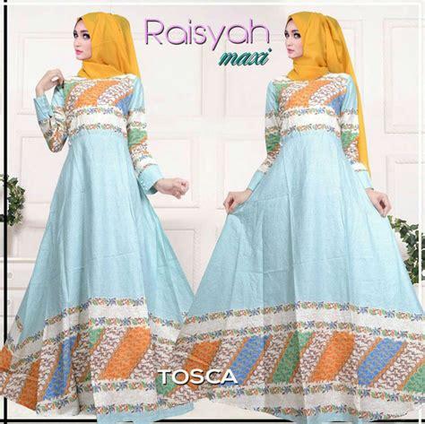 Dress Gamis Batik Murah Chantika Tosca By Batik Damiana model baju gamis dress muslim motif batik cantik terbaru