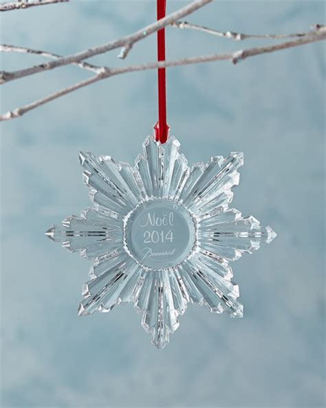 baccarat 2014 annual clear snowflake christmas ornament