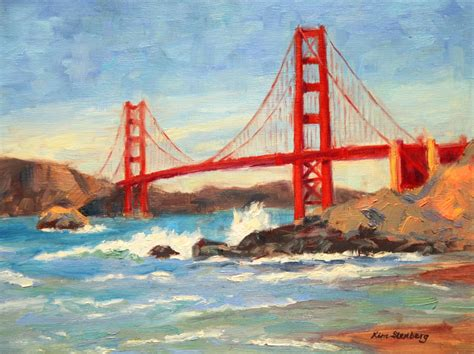 stenberg s painting journal quot golden gate bridge on a day quot on stretched canvas