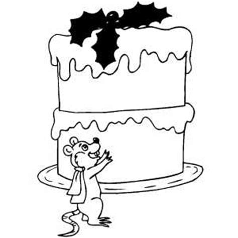 big cake coloring pages mouse and big cake coloring page