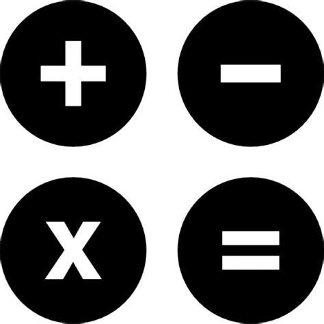imagenes matematicas blanco y negro s 237 mbolos de operaciones matem 225 ticas descargar iconos gratis