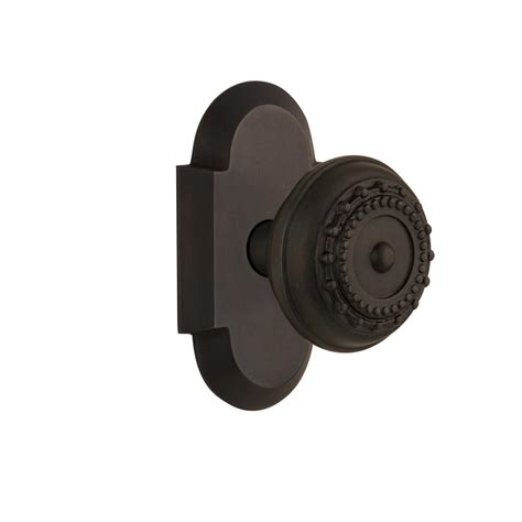 Rubbed Bronze Dummy Door Knob by Nostalgic Warehouse Cottage Plate Dummy