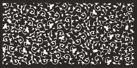 metal pattern corel laser cut flower pattern decorative panel coreldraw vector
