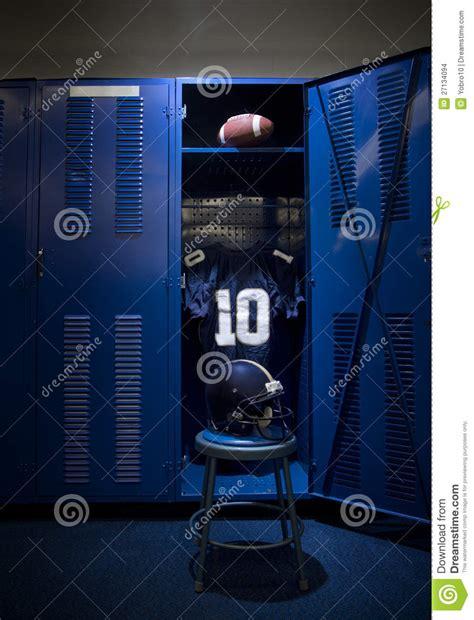 locker room authentics football locker stock images image 27134094