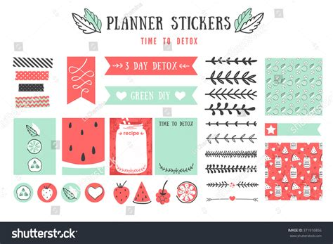 deorative recipe card template cooking cards notes stickers labels tags with