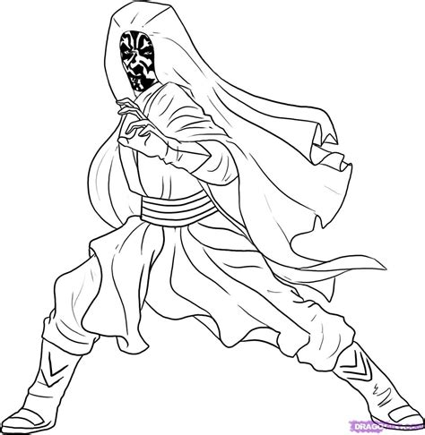 phantom menace coloring pages step 5 how to draw darth maul from wars episode i