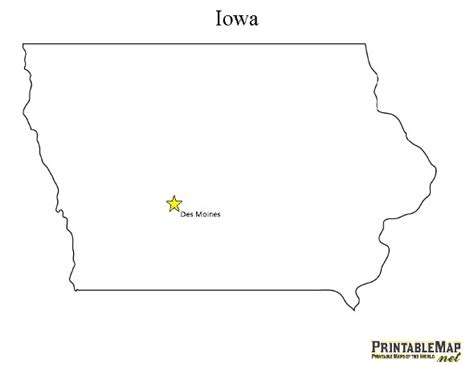 printable map iowa print state capital map of iowa