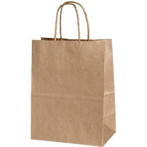 Brown Paper Craft Bags - shopping india kraft paper bags without handle