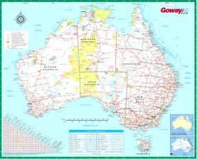 road map printable large detailed road map of australia australia large