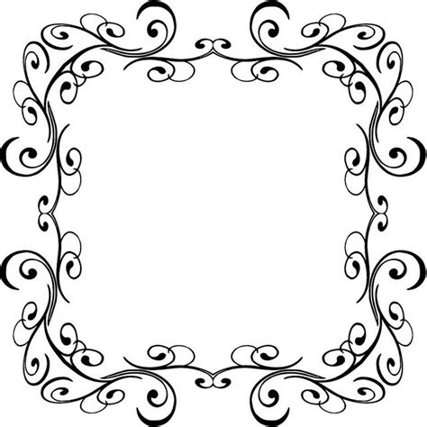 design frame outline 37 best images about borders ornette silhouette special