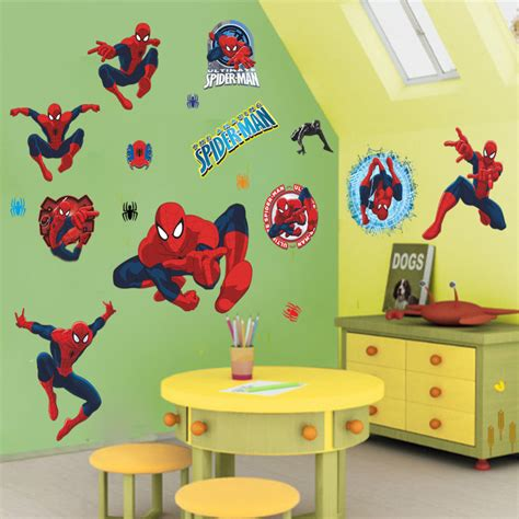 home decor for kids aliexpress com buy 3d cartoon spiderman wall stickers